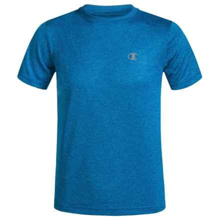Champion Heathered High-Performance T-Shirt - Short Sleeve (For Little Boys) in Awesome Blue - Closeouts