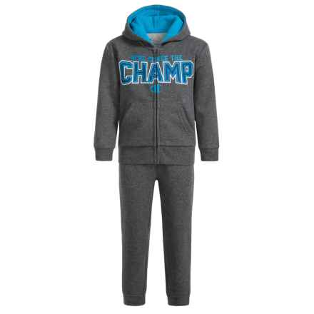 Champion Here Comes the Champ Sweat Set (For Infant Boys) in Granite Heather/Granite Heather - Closeouts