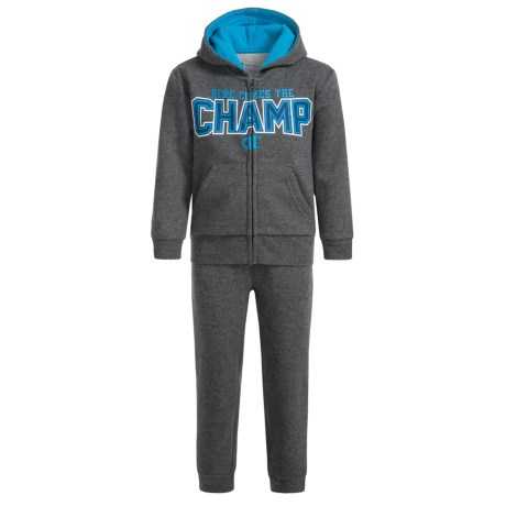 Champion Here Comes the Champ Sweat Set (For Infant Boys) in Granite Heather/Granite Heather