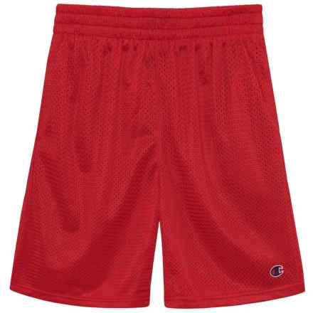 Champion Heritage Mesh Shorts (For Big Boys) in Crimson - Closeouts