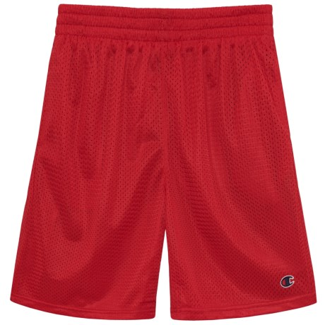 Champion Heritage Mesh Shorts (For Big Boys) in Crimson