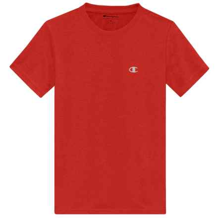 Champion High-Performance Heather T-Shirt - Short Sleeve (For Big Boys) in Crimson Heather - Closeouts