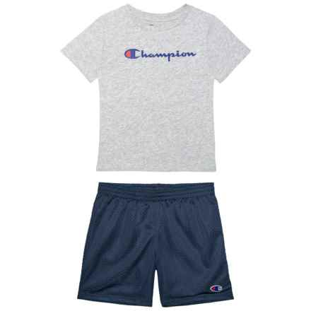 Horizontal Graphic Shirt and Pants - Short Sleeve (For Toddlers and Big Boys) in Oxford Heather - Closeouts