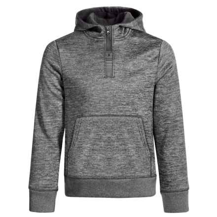 Champion Kangaroo Hoodie - Zip Neck (For Toddlers and Little Girls) in Black Spacedye - Closeouts