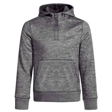 Champion Kangaroo Hoodie - Zip Neck (For Toddlers and Little Girls) in Black Spacedye