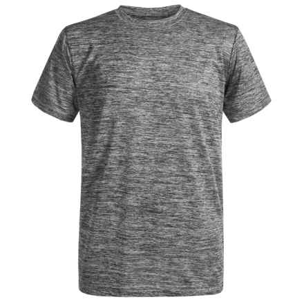 Champion Linear Heathered High-Performance T-Shirt - Short Sleeve (For Big Boys) in Silverstone/Slate Grey - Closeouts