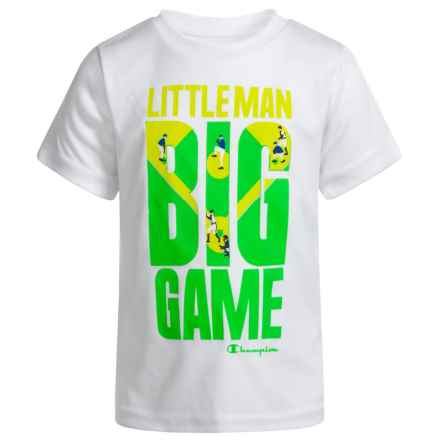 Champion Little Man Big Game T-Shirt - Short Sleeve (For Infant Boys) in White - Closeouts