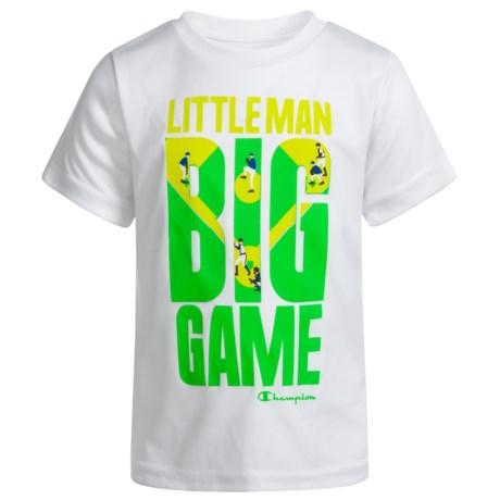 Champion Little Man Big Game T-Shirt - Short Sleeve (For Infant Boys) in White
