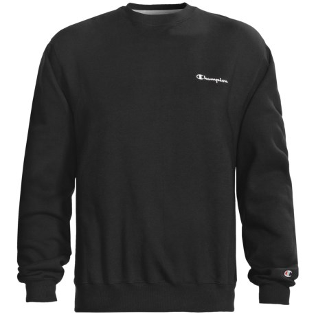 Champion Logo Sweatshirt - Long Sleeve (For Men) in Black