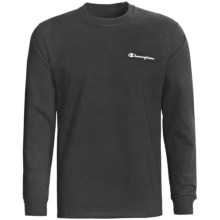 Champion Logo T-Shirt - Long Sleeve (For Men) in Black - 2nds