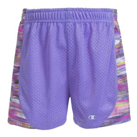 Champion Mesh Athletic Shorts (For Big Girls) in Purple Hebe/Ombre Multi Color2 - Closeouts