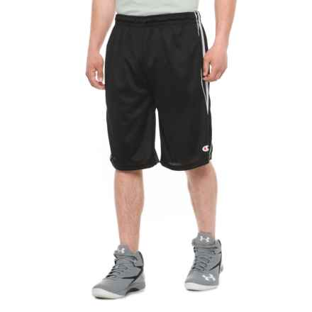 Champion Mesh Athletic Shorts (For Men) in Black/White - Closeouts