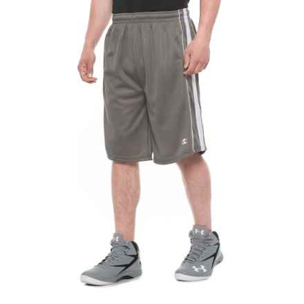 Champion Mesh Athletic Shorts (For Men) in Grey/White - Closeouts