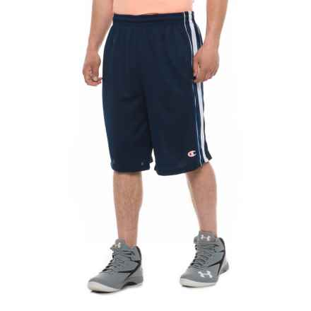 Champion Mesh Athletic Shorts (For Men) in Navy/White - Closeouts