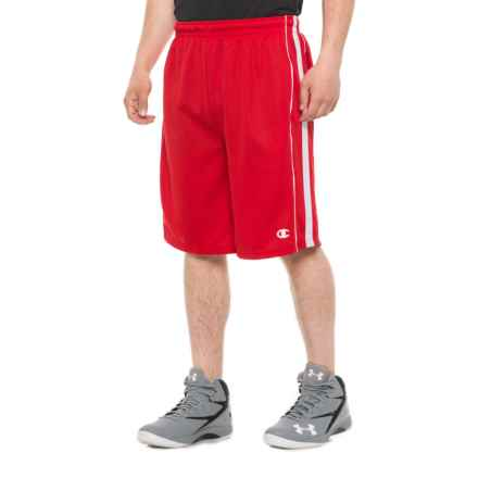 Champion Mesh Athletic Shorts (For Men) in Red/White - Closeouts