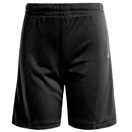 Champion Mesh Basketball Shorts (For Big Girls) in Black - Closeouts