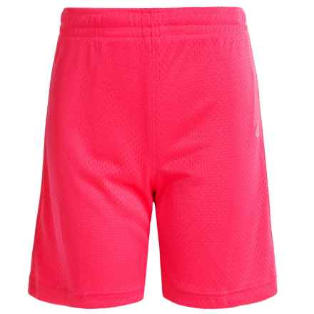 Champion Mesh Basketball Shorts (For Big Girls) in Pink Bloom - Closeouts