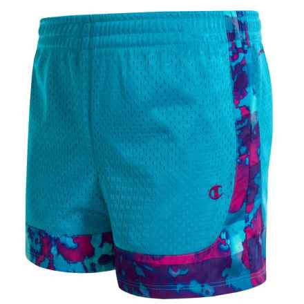 Champion Mesh Shorts (For Big Girls) in Chroma Blue/Raspberry Shock - Closeouts