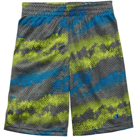 Champion New Print Mesh Shorts (For Toddler and Little Boys) in Carbon Print