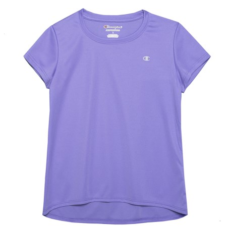 Champion Perfect Swing T-Shirt - Short Sleeve (For Big Girls) in Purple Hebe Heather