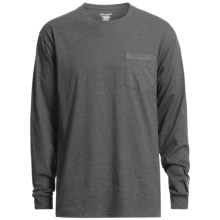 Champion Pocket T-Shirt - Long Sleeve (For Men) in Charcoal Heather - 2nds