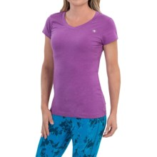 Champion PowerTrain Power Cotton® T-Shirt - V-Neck, Short Sleeve (For Women) in Tripping Purple Heather - Closeouts