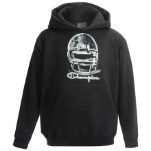 Champion Printed Pullover Hoodie (For Boys) in Black/Football - Closeouts
