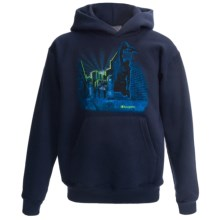 Champion Printed Pullover Hoodie (For Boys) in Navy/Basketball - Closeouts