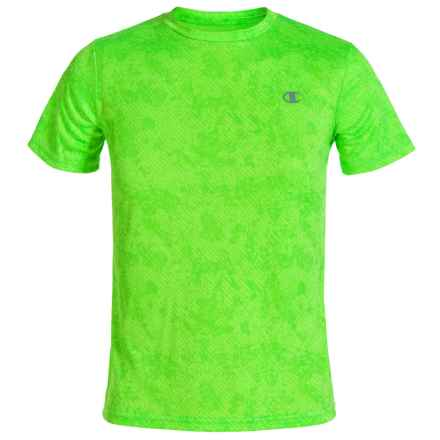 Champion Printed T-Shirt - Short Sleeve (For Big Boys) in Green Gecko - Closeouts