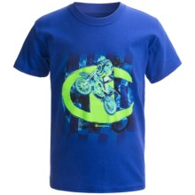 Champion Printed T-Shirt - Short Sleeve (For Boys) in Royal Motocross - Closeouts