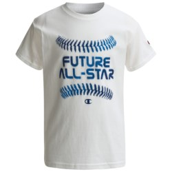 Champion Printed T-Shirt - Short Sleeve (For Boys) in White Future All Star