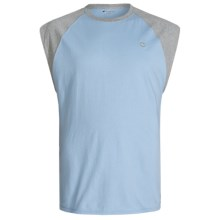 Champion Raglan Muscle Shirt - Sleeveless (For Men) in Candid Blue/Oxford Grey - Closeouts