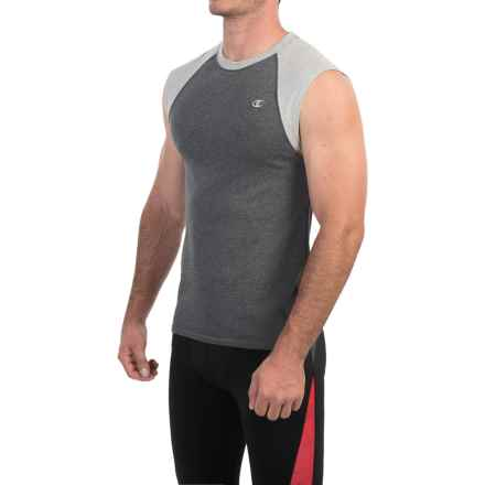 Champion Raglan Muscle Shirt - Sleeveless (For Men) in Granite Heather/Oxford Gray - Closeouts
