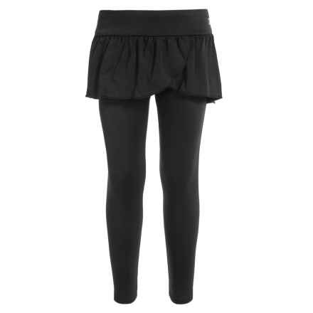 Champion Ruffle-Skirted Leggings (For Little Girls) in Black - Closeouts