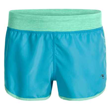 Champion Running Shorts - Built-In Briefs (For Big Girls) in Blue Atoll/Cabbage Heather - Closeouts