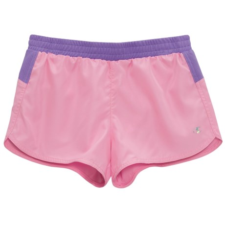 Champion Running Shorts with Mesh Accent - Built-In Briefs (For Big Girls) in Prism Pink/Purplele Hebe