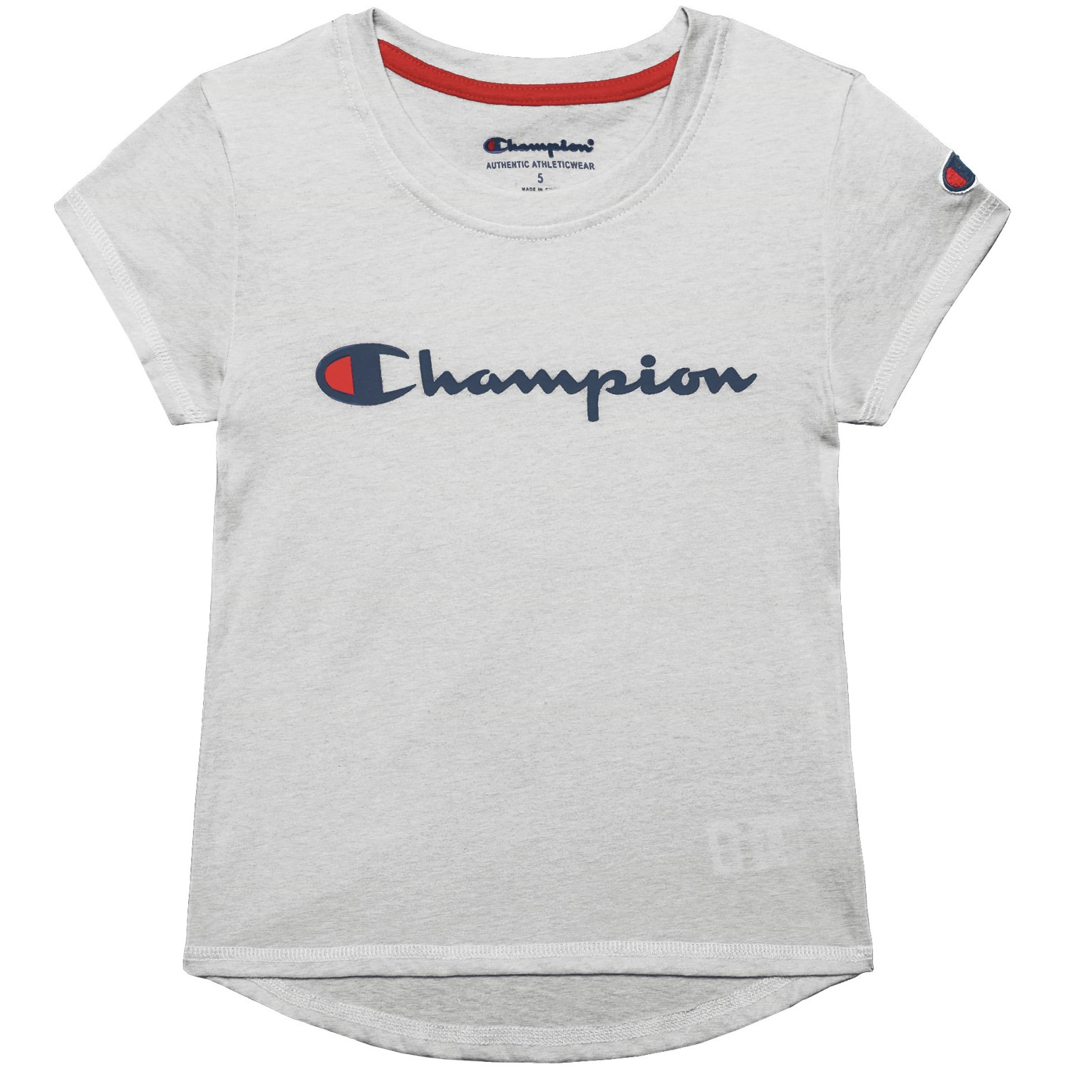 Champion Script T-Shirt - Short Sleeve (For Toddler and Little Girls)