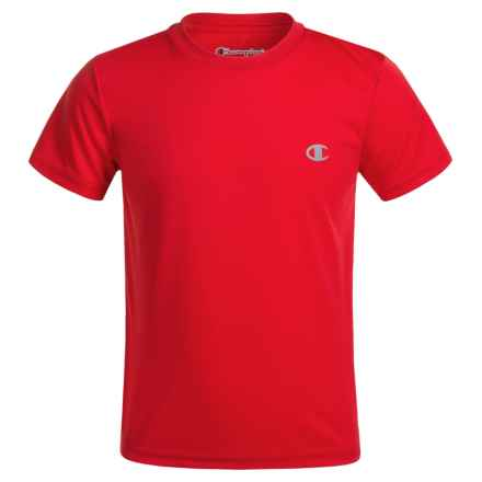 Champion Solid High-Performance T-Shirt - Short Sleeve (For Little Boys) in Crimson - Closeouts