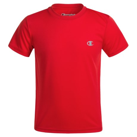 Champion Solid High-Performance T-Shirt - Short Sleeve (For Little Boys) in Crimson