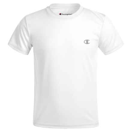 Champion Solid High-Performance T-Shirt - Short Sleeve (For Little Boys) in White - Closeouts