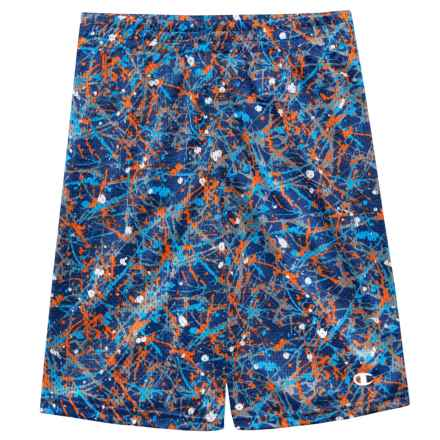 Champion Splatter Print Mesh Shorts (For Big Boys) in Navy/Hydro - Closeouts