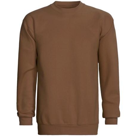 Champion Sweatshirt - Crew Neck, Long Sleeve (For Men and Women) in Brown