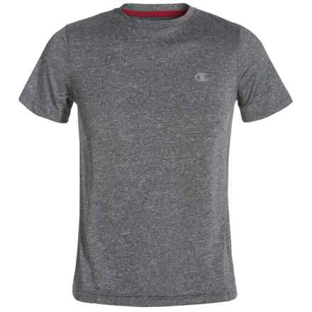 Champion Training T-Shirt - Short Sleeve (For Big Boys) in Black Heather - Closeouts