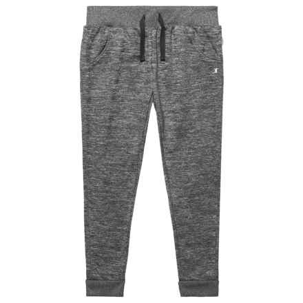Champion Two-Color Space-Dyed Fleece Joggers (For Toddler and Little Girls) in Black Spacedye - Closeouts