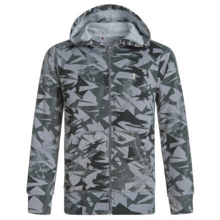 Champion Warrior Camo Print Hoodie (For Big Boys) in Concrete - Closeouts