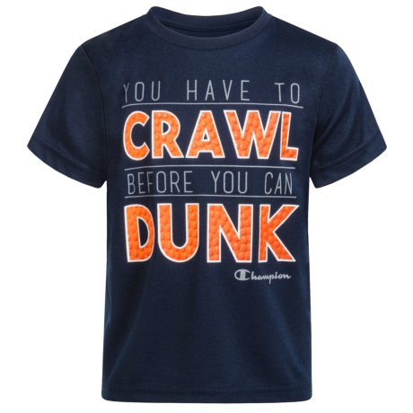 Champion You Have to Crawl T-Shirt - Short Sleeve (For Infant Boys) in Navy
