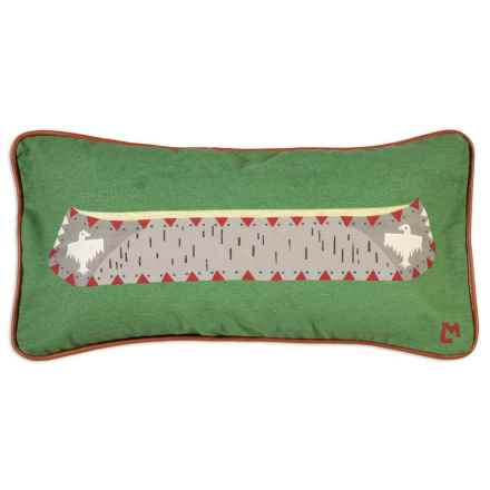"Chandler 4 Corners Canoe on Green Canvas Pillow - 12x24"" in Green - Closeouts"