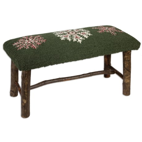 Chandler 4 Corners Hickory and Wool Twig Bench