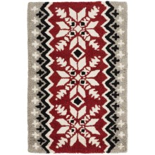 Chandler 4 Corners Hooked Wool Accent Rug - 2x3' in Alpine Flakes - Closeouts