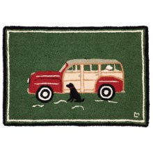 Chandler 4 Corners Hooked Wool Accent Rug - 2x3' in Waiting For A Ride - Closeouts